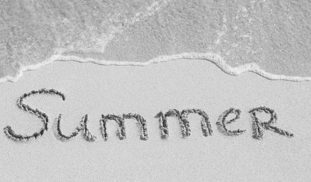 communication estivale, été, plage, mer