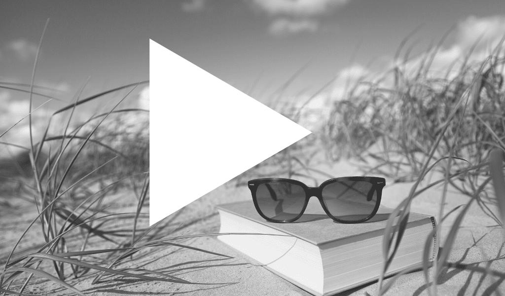 lecture, soleil, video, été, livre