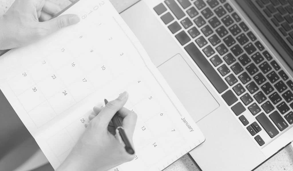 agenda efficace, s'organiser en tant qu'entrepreneur