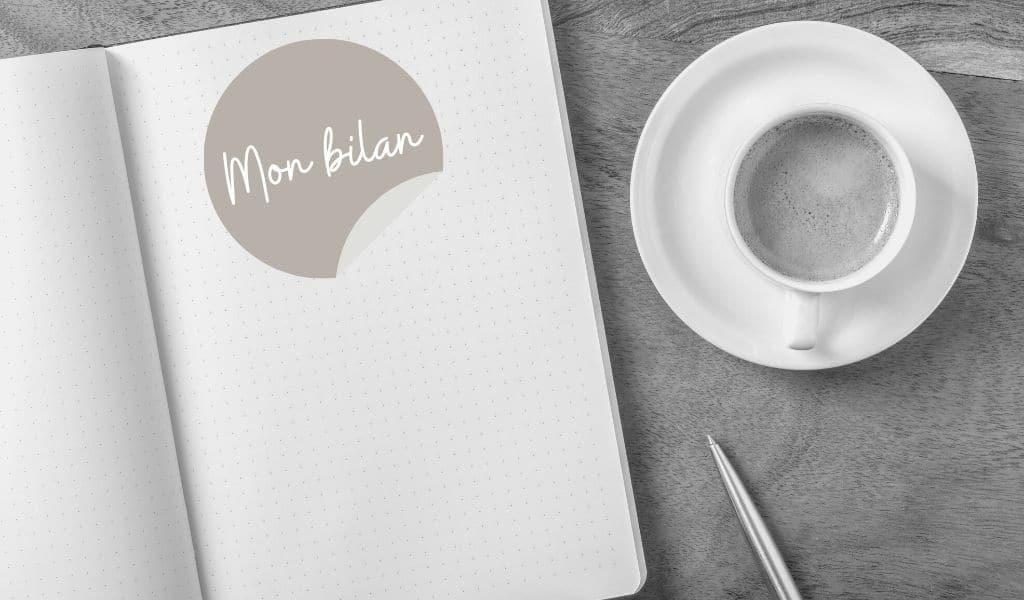 bujo, bullet journal, bilan hebdomadaire