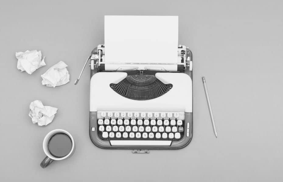 désir d'écrire, machine à écrire