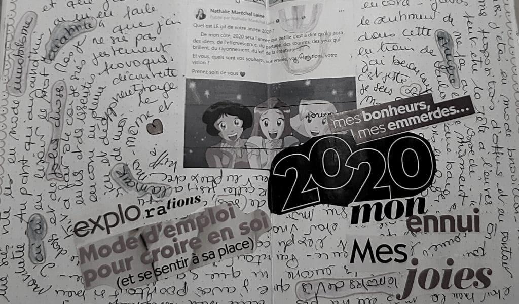 bilan 2020, mixed media, journal créatif, bilan annuel